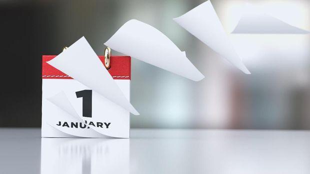 ilustrasi tahun baru