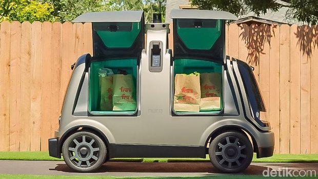 Emak Pasti Suka! Mobil Robot Antar Belanjaan Cuma Rp 80 Ribuan