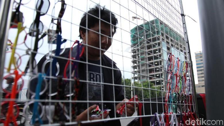 PKL Mulai Gelar Lapak di Kawasan Bundaran HI