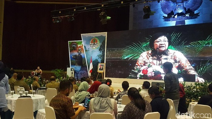Menteri Siti saat membuka acara diskusi di Kementerian LHK. (Zunita/detikcom).