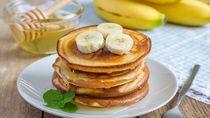 Mau Hidup Sehat di Tahun Baru? Yuk Mulai Sarapan Pancake Pisang