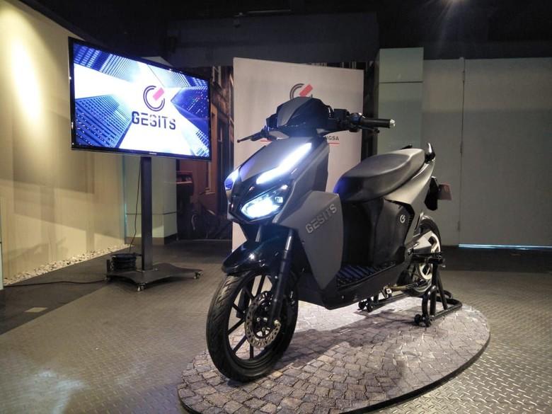 Motor Listrik Gesits yang akan meluncur awal 2019. Foto: Ruly Kurniawan