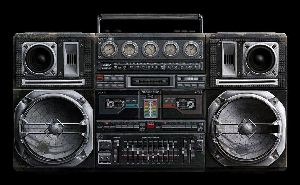 Kira-kira ada yang bisa menebak nggak stereo ini asli atau hanya sekadar lukisan? Istimewa/Dok. Boredpanda.