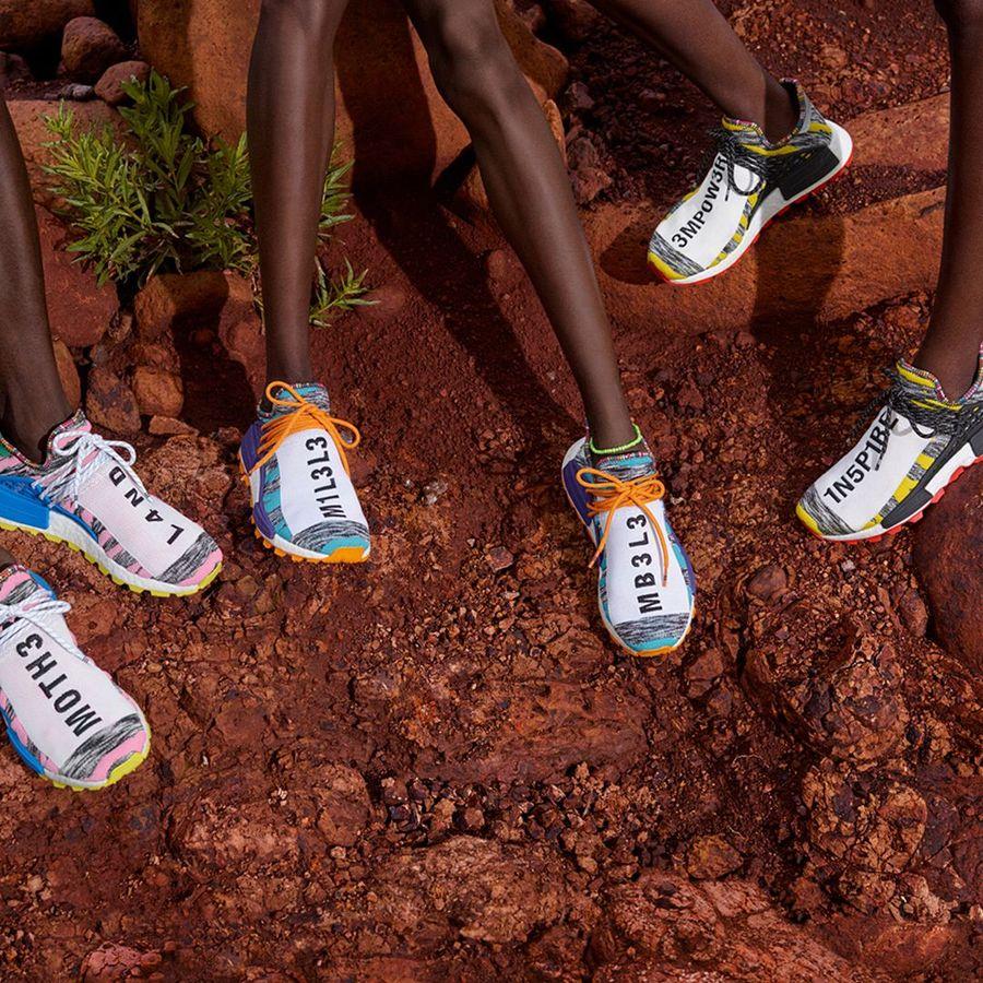 Masih dari Adidas, ada Human Race NMD by Pharrell Williams. Model slip-on memberi napas urban pada sneakers ini. (Foto: Instagram/@pharrell)