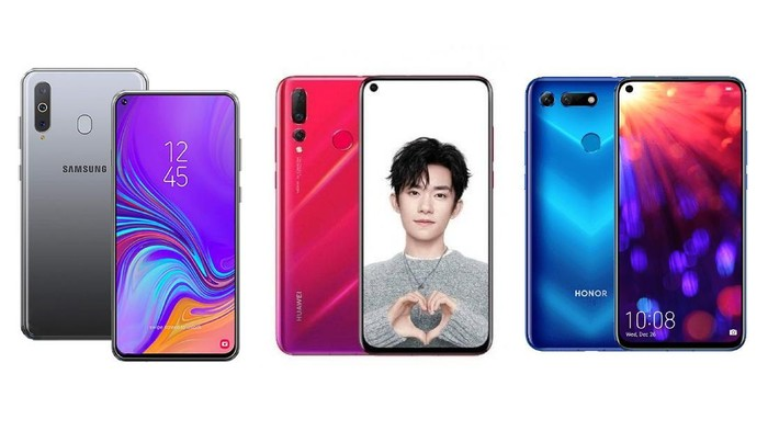 Bagaimana perbandingan tiga ponsel layar bolong dari Samsung, Huawei, dan Honor? (Foto: Adi Fida Rahman/detikINET)