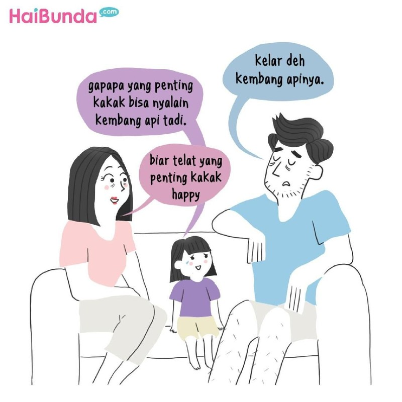 Begini cerita tahun baru di keluarga Bunda di komik ini. Cerita tahun baru di keluarga Bunda, Ayah, dan Kakak gimana?