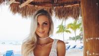 Dalam Instagramnya, Hannah banyak memposting dirinya berbikini di banyak pantai cantik. (hannahpolites/Instagram)