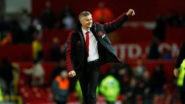 Performa Man United terdongkrak ditangani manajer sementara Ole Gunnar Solskjaer. (