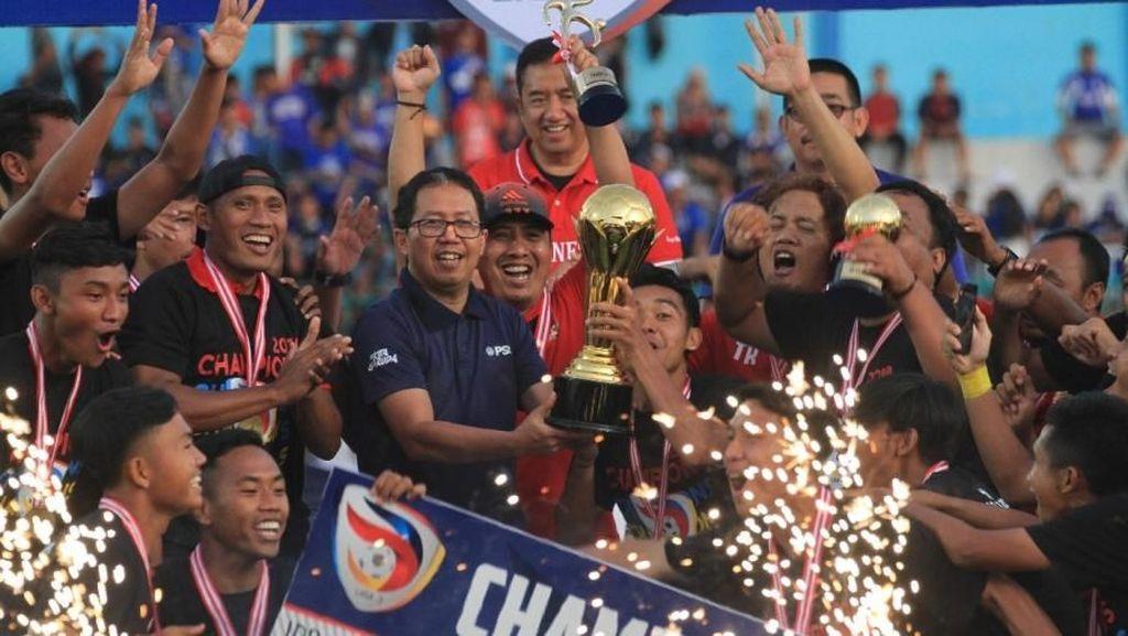 PSSI, Kapan Serahkan Hadiah Juara dan Runner-up Liga 3 2018?