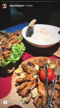 Tiram hingga Tumis Kangkung Jadi Menu Pesta Tahun Baru Maia Estianty di Bali