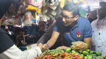 Awali Tahun 2019, Sandiaga Datangi Pasar Larangan Sidoarjo