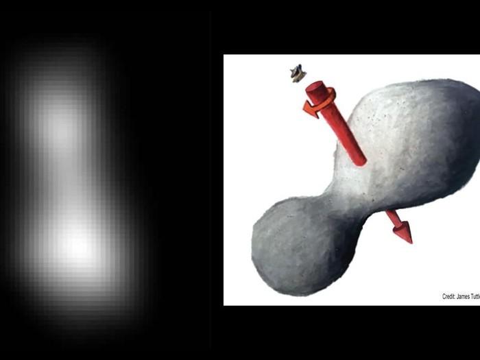 Inilah foto pertama kiriman pesawat antariksa New Horizons dari Ultima Thule, objek di tepi Tata Surya. (Foto: NASA)