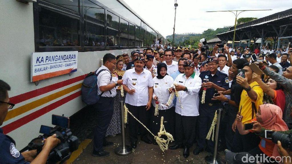 KA Baru Sampai Banjar, Bus Wisata Disiapkan ke Pangandaran