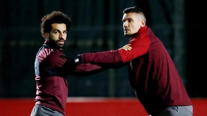 Mohamed Salah dan Dejan Lovren terlibat dalam percakapan kocak di WhatsApp. (Foto: Action Images via Reuters/Carl Recine)