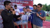 Kagumi Drone Bikinan Pelajar SMK, Sandiaga: Ini Baru Milenial