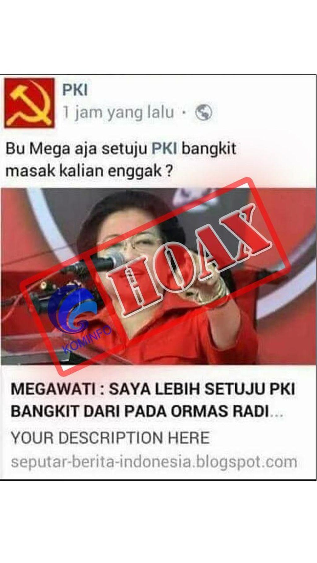 Megawati setuju PKI bangkit ini tidak benar. Foto: Dok. Kemenkominfo
