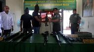 Warga Serahkan Senjata Sisa Konflik Aceh ke Kodam Iskandar Muda
