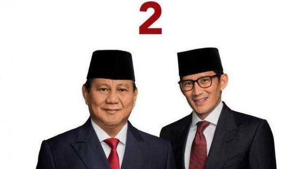 Foto Prabowo-Sandiaga yang rencananya akan dipakai dalam surat suara