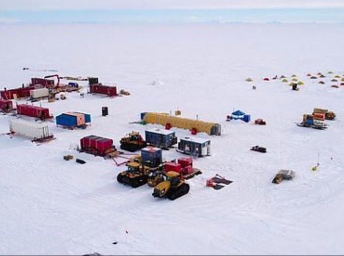 Lokasi penelitian danau misterius di Antartika. Foto: Salsa