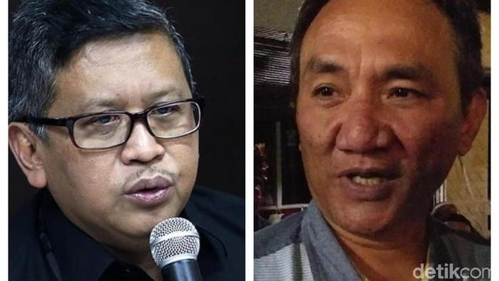 Sekjen PDIP Hasto Kristiyanto dan Wakil Sekjen Partai Demokrat Andi Arief saling silang pendapat mengenai hoax surat suara tercoblos.