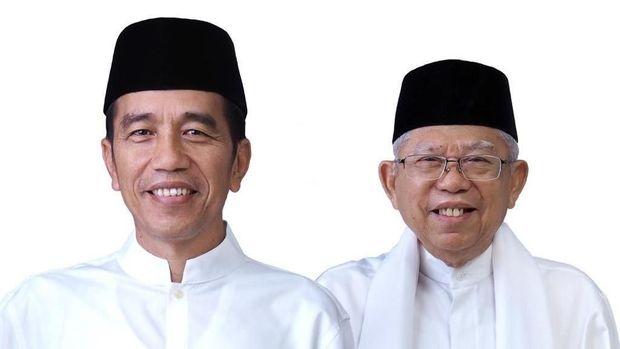 Foto Jokowi dan Ma'ruf Amin di surat suara Pilpres 2019