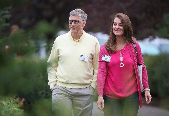 Bill Gates dan istrinya Melinda Gates. Foto: Scott Olson/Getty Images