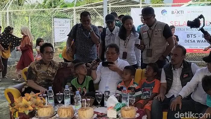 Di Morotai, Menkominfo mengungkap empat fokusnya di tahun 2019. (Foto: Rachmatunnisa/detikINET)