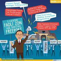 5 Catatan Fadli Zon soal Pembelian Saham Freeport