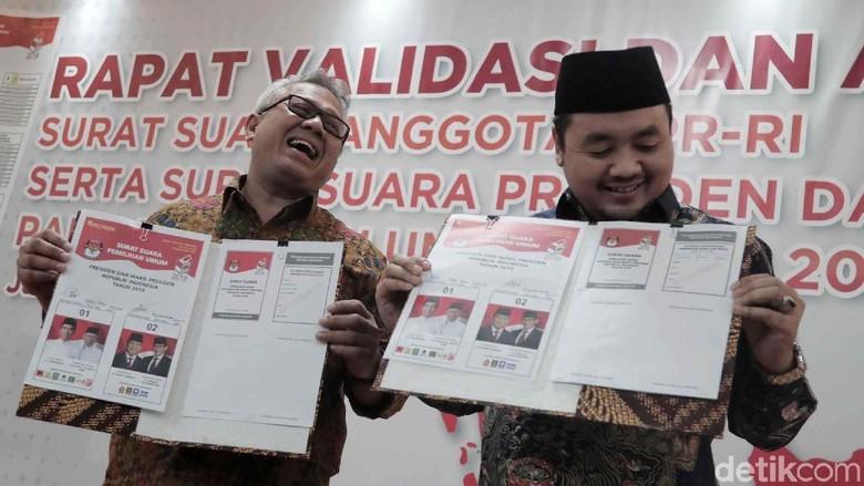Tim Jokowi Maruf Dan Prabowo Sandi Setujui Surat Suara