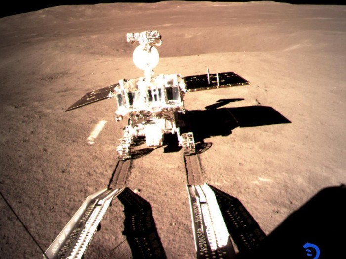 Wahana Change 4 di Bulan. Foto: China National Space Administration
