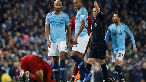 Manchester City saat menjamu Liverpool pada Januari 2019. (