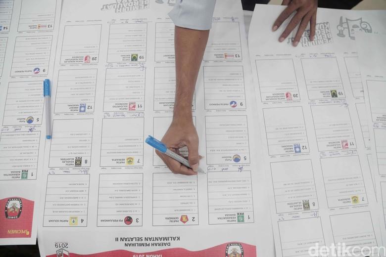 Hasil Sementara Real Count KPU: PDIP Teratas, Golkar Kedua
