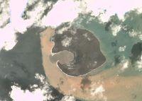 Penampakan Anak Krakatau Terbaru dari Satelit