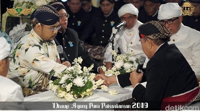 Akad nikah BPH Kusumo Bimantoro (Foto: Dok. Panitia Dhaup Ageng Puro Pakualaman)