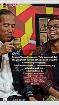 Mampir Tulungagung, Jokowi Seruput Kopi 4 Ribu Perak