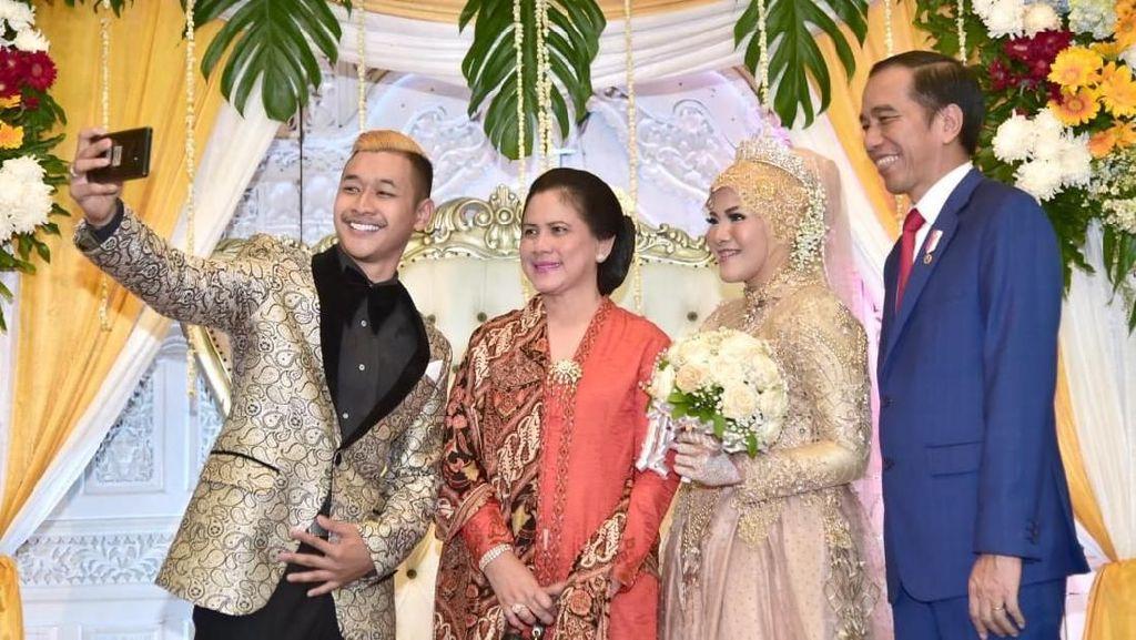 Kala Jokowi Kondangan ke Pernikahan Atlet Peraih Emas Pencak Silat