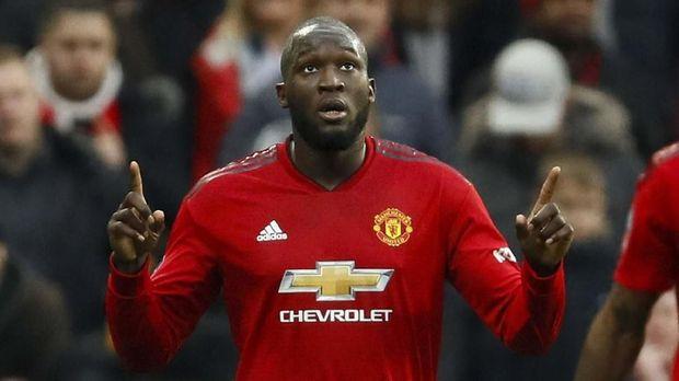 Romelu Lukaku masuk rencana transfer Inter Milan.