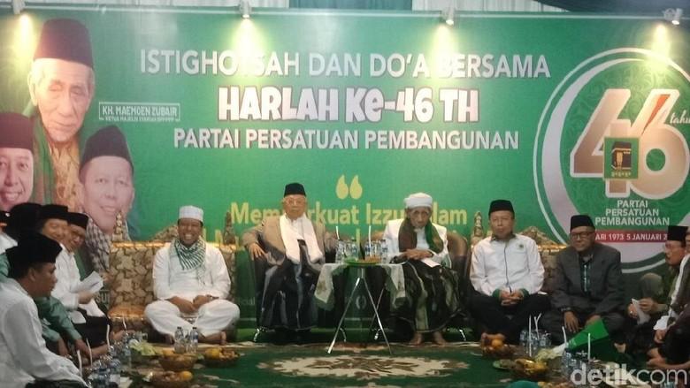Maruf Amin dan Mbah Moen Hadiri Doa Bersama Harlah ke-46 PPP