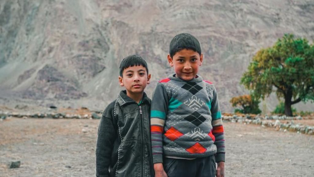 Potret Anak-anak di Perbatasan India-Pakistan