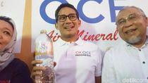 Resmikan Produk Air Mineral, Sandi Ingin Buktikan OK OCE Masih Berjalan