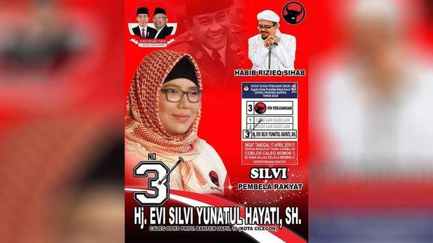 Caleg PDIP Akui Rizieq Tokoh Pemersatu Muslim