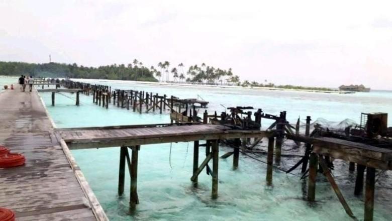 Resor mewah di Maldives kebakaran hebat tinggal menyisakan puing-puing (dok. Gili Lankanfushi)