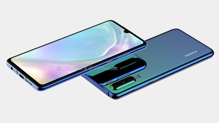 Bocoran Huawei P30. Foto: OnLeaks/91Mobiles