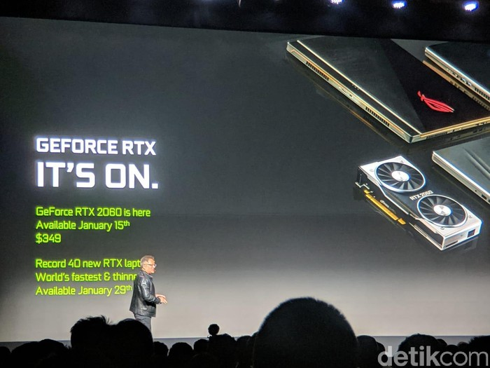 GeForce RTX 2060 diperkenalkan. Foto: Adi Fida Rahman/detikINET