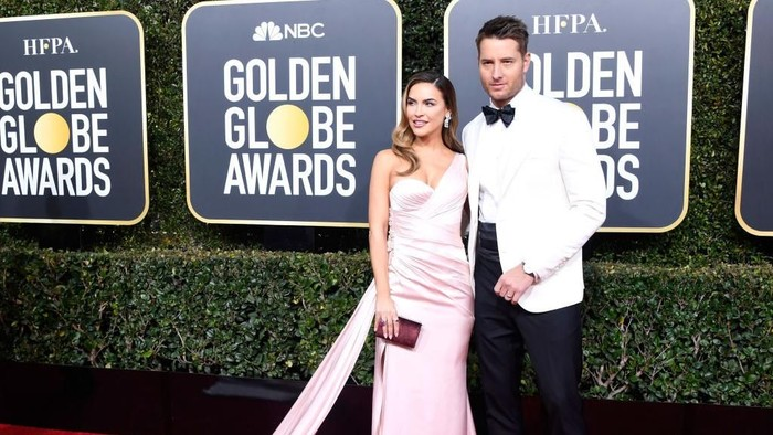 Aktor Justin Hartley dan Chrishelle Hartley di Golden Globes 2019. Foto: Getty Images