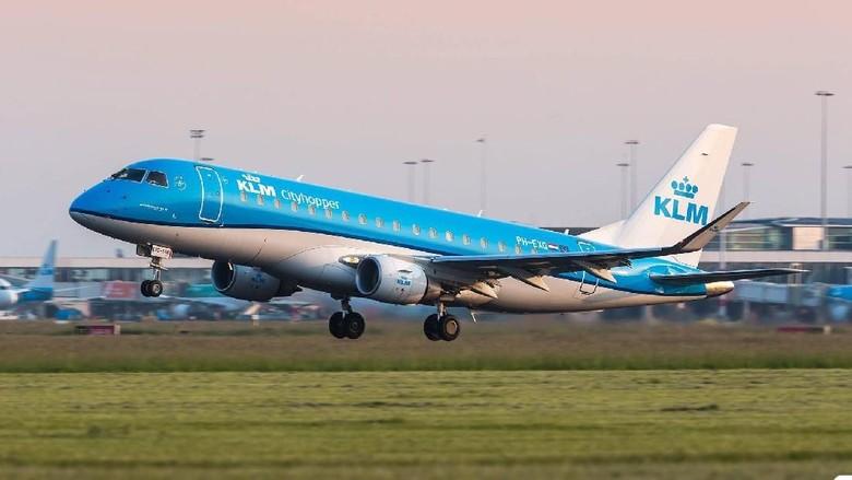 Ilustrasi maskapai KLM (KLM/Facebook)