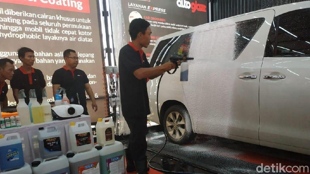 Kini Bisa Cuci Mobil Touchless di SPBU
