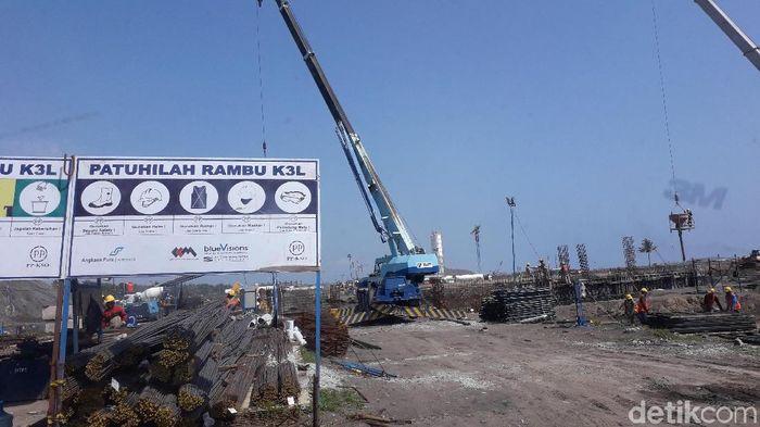 Progres Bandara Kulon Progo awal Januari 2019/Foto: Ristu Hanafi/detikcom
