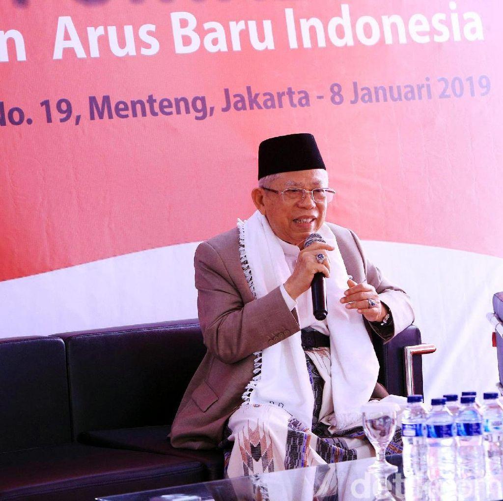 Maruf soal Kostum Debat: Pakai Sarung, Bajunya Nanti Disepakati