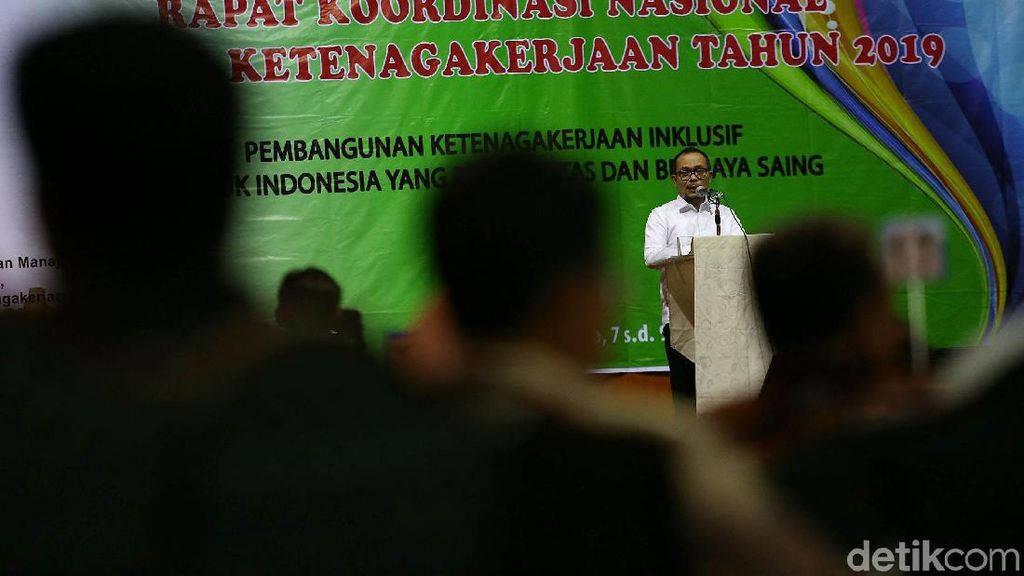 Menaker Hanif Dhakiri Buka Rakornas Ketenagakerjaan